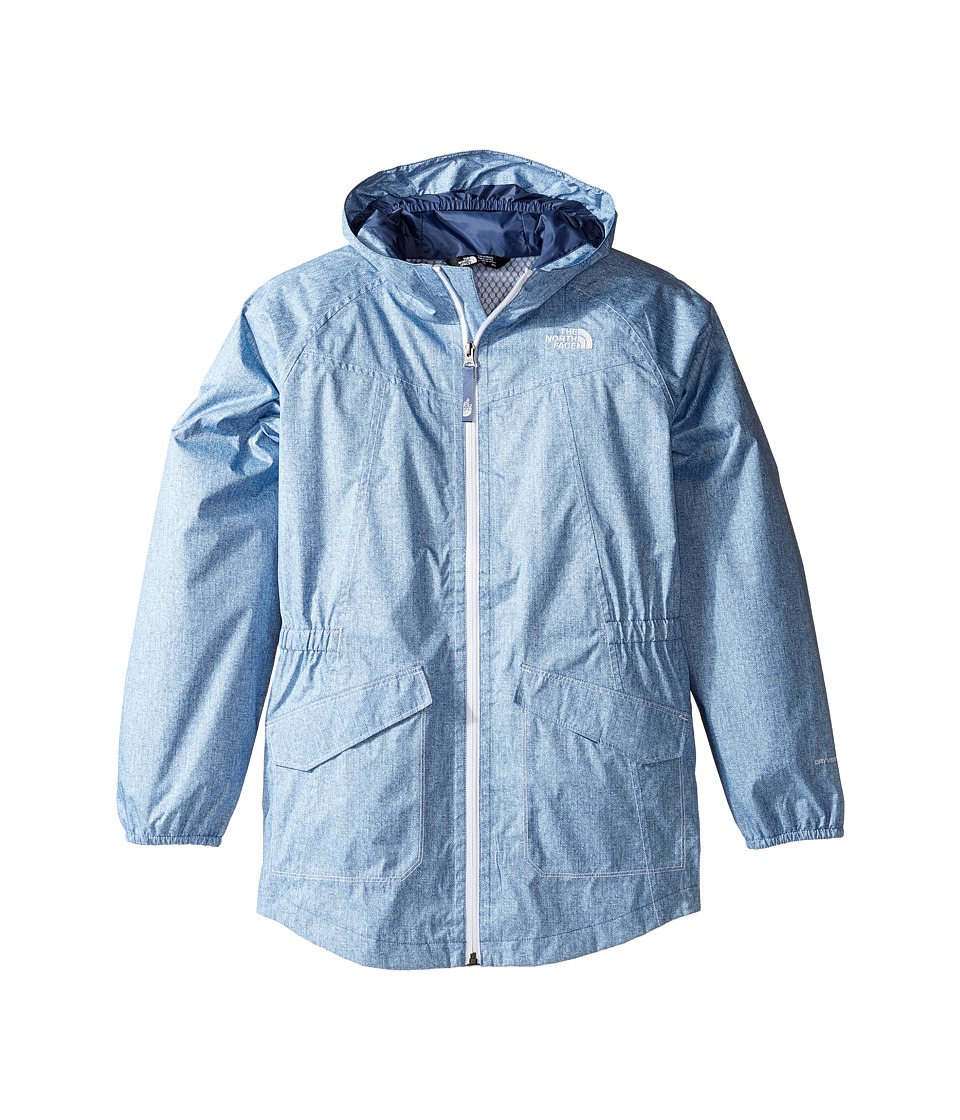 The North Face Kids - Sophie Rain Parka (Little Kids/Big Kids) (Chambray Blue Denim Print (Prior Season)) Girl's Coat