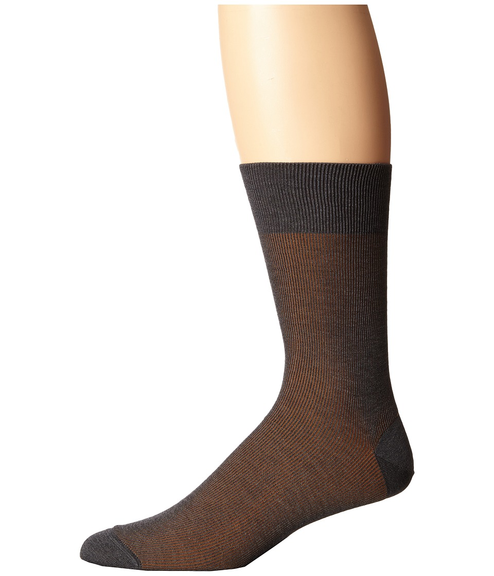 Falke - Fine Shadow Sock (Grey Melange) Men's Crew Cut Socks Shoes