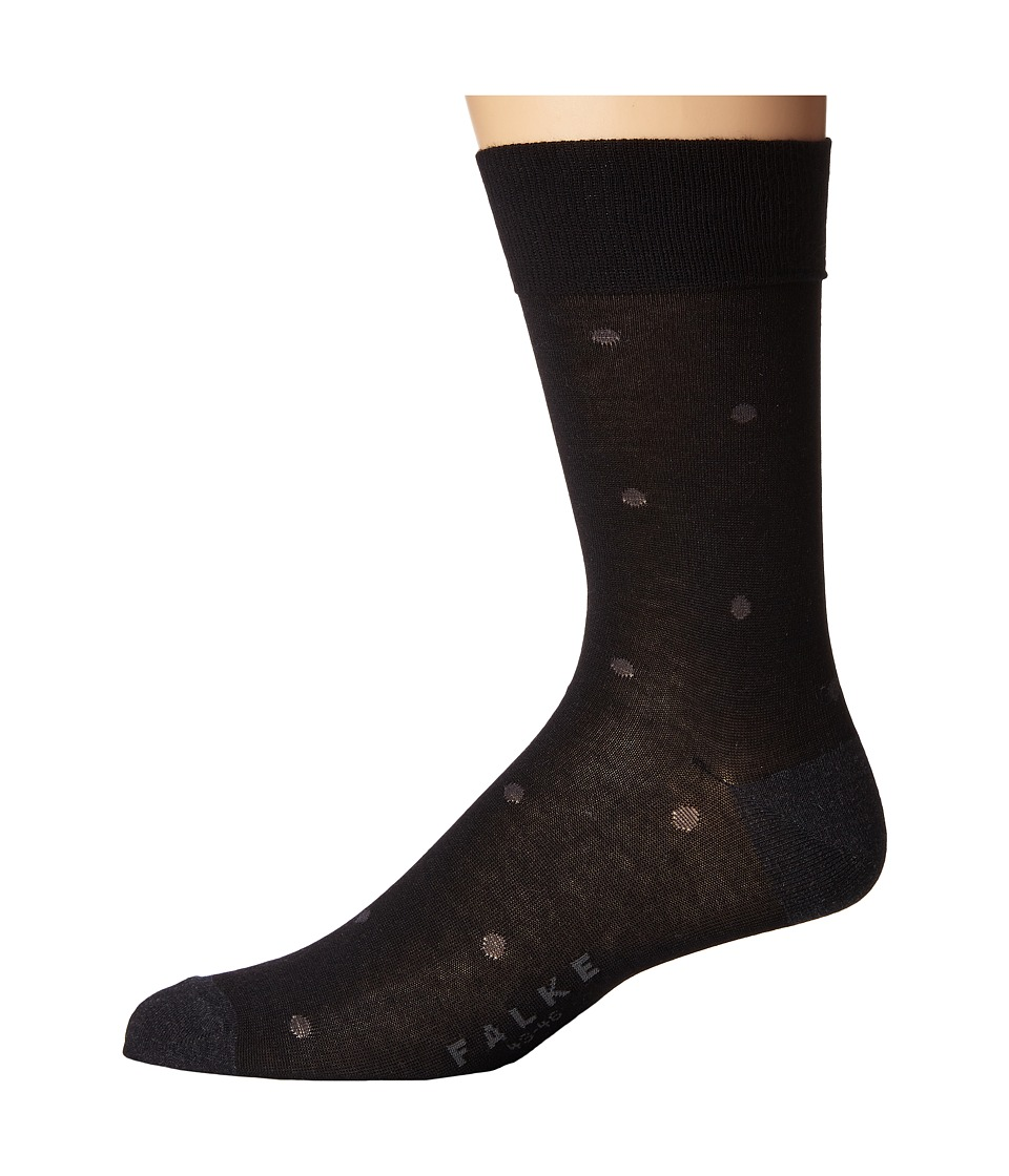 Falke - Dot Sock (Anthracite Melange) Men's Crew Cut Socks Shoes