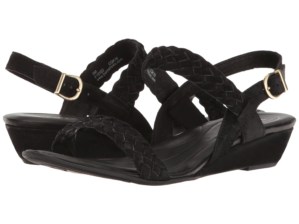Born - Pernilla (Black Distressed) Women's Dress Sandals
