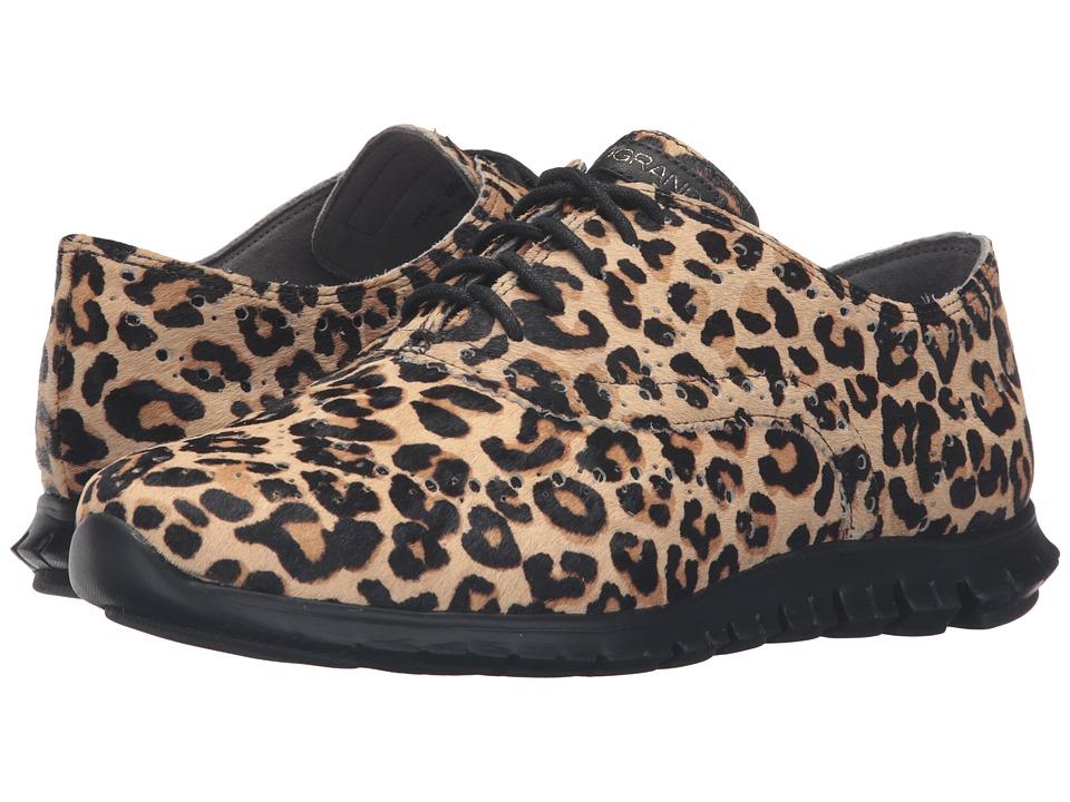 Cole Haan - Zerogrand Wing Ox (Ocelot Haircalf/White) Women's Shoes
