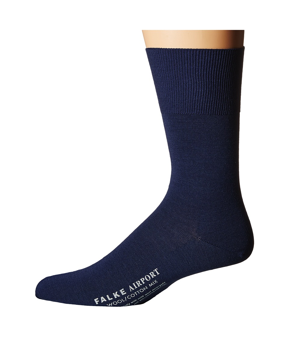 Falke - Airport Crew Socks (Royal Blue) Men's Low Cut Socks Shoes