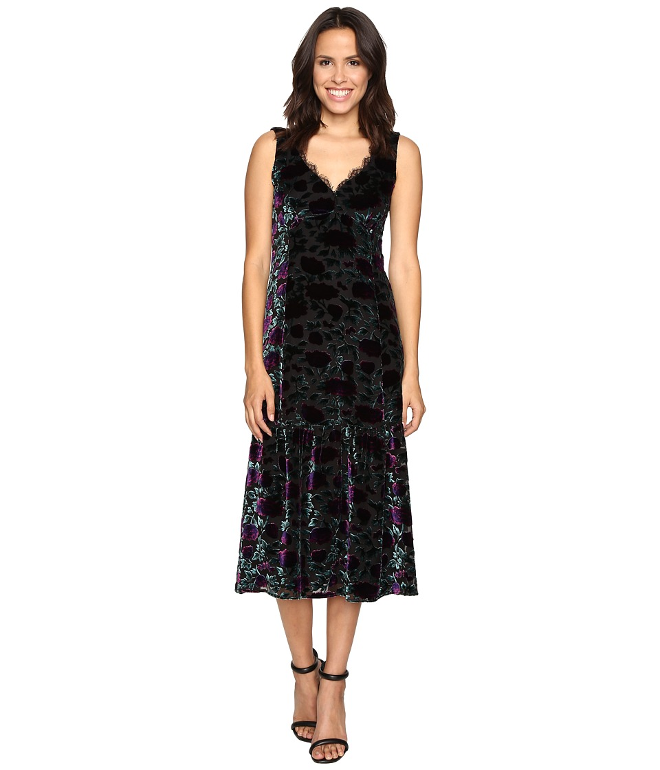 Nanette Lepore - Lotus Flower Frock (Eggplant) Women's Dress