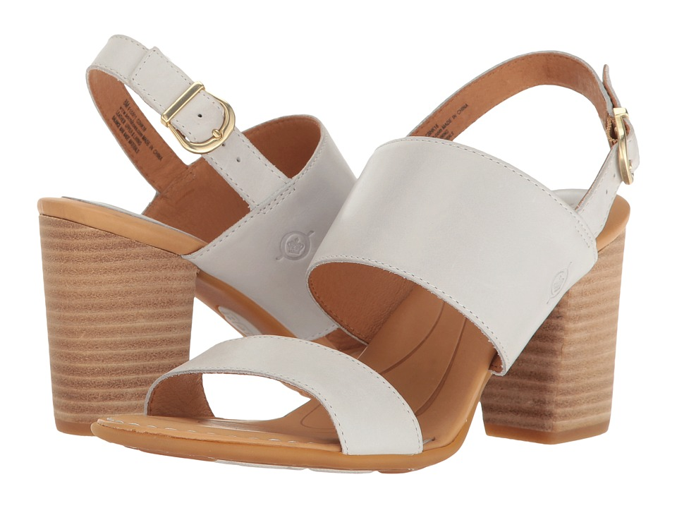 Born - Holguin (White Full Grain) Women's Clog/Mule Shoes