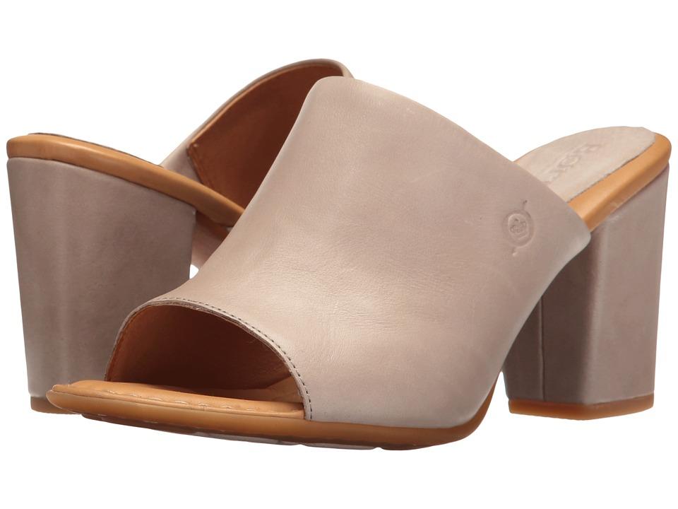 Born - Bima (Light Grey Full Grain) Women's Clog/Mule Shoes