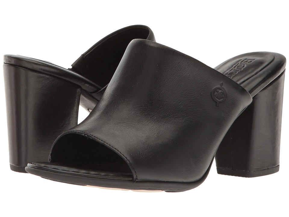 Born Bima (Black Full Grain) Women's Clog/Mule Shoes