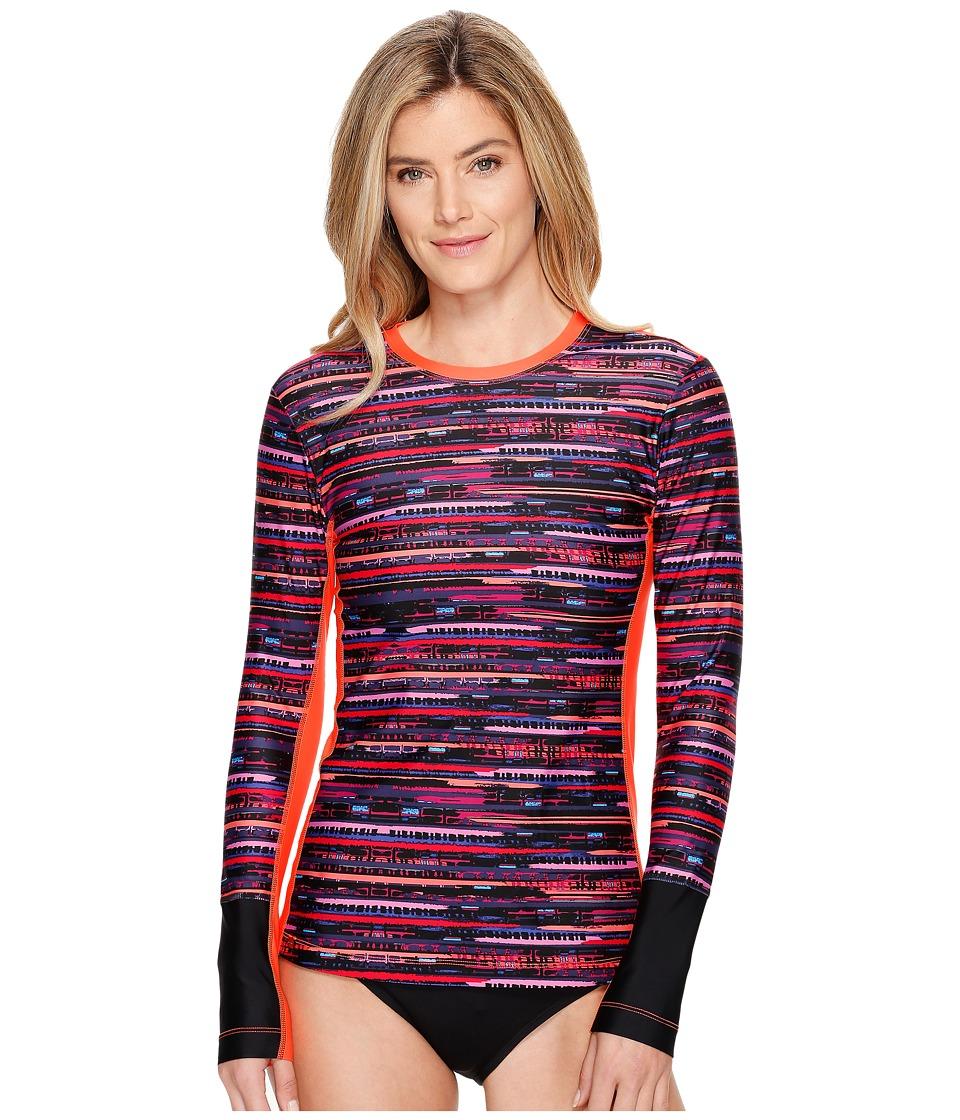 Lole - Whitehaven Rashguard (Fiery Coral Fresh) Women's Swimwear