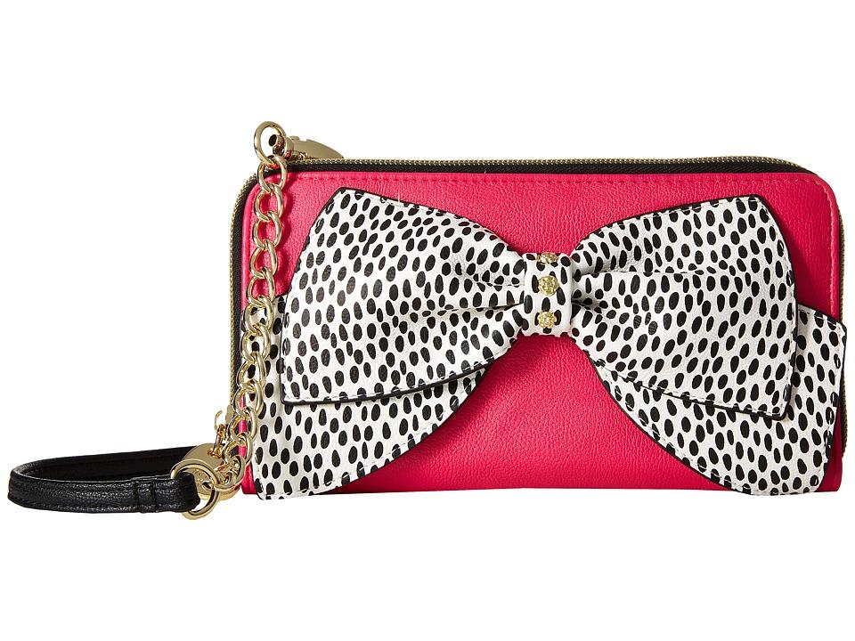 Betsey Johnson - Hopelessly Romantic Convertible Clutch (Fuchsia) Tote Handbags