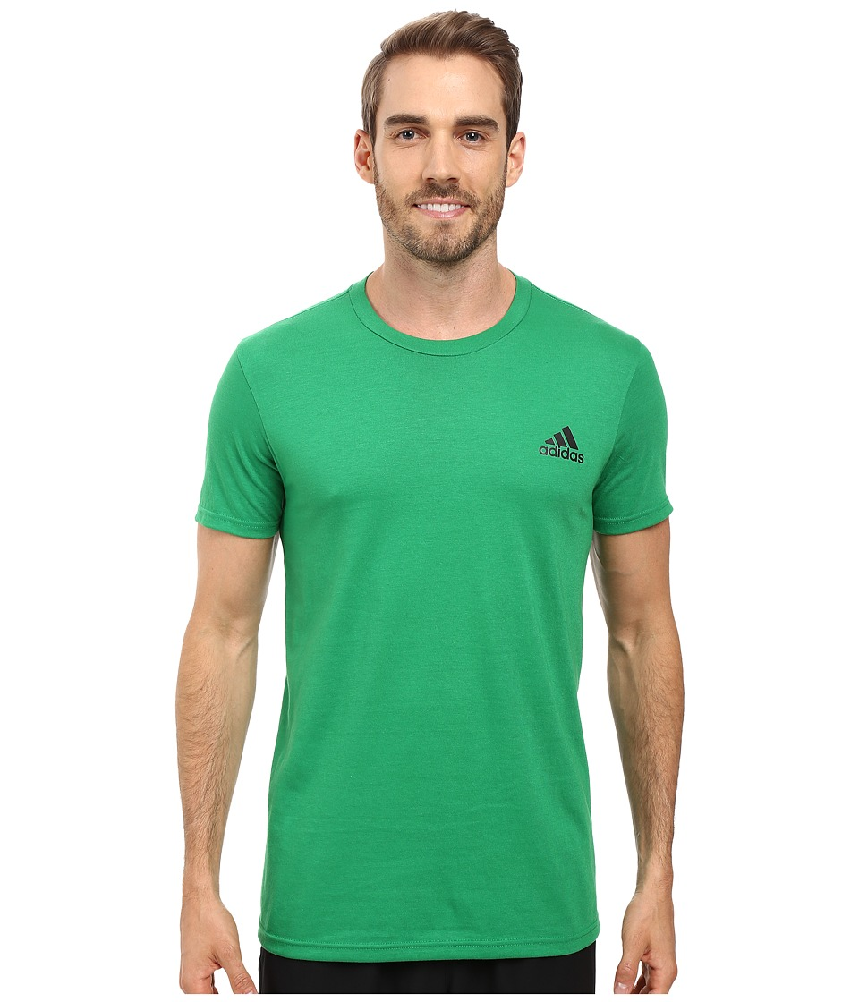 adidas - Go-To Short Sleeve (Green/Black) Men's Clothing
