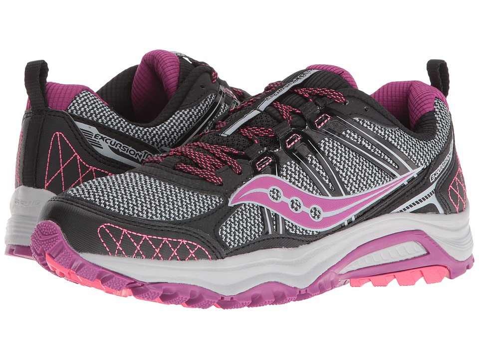 Saucony - Excursion TR10 (Black/Berry/Coral) Women's Running Shoes