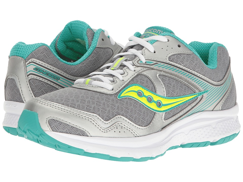 Saucony Cohesion 10 (Grey/Teal/Citron) Women