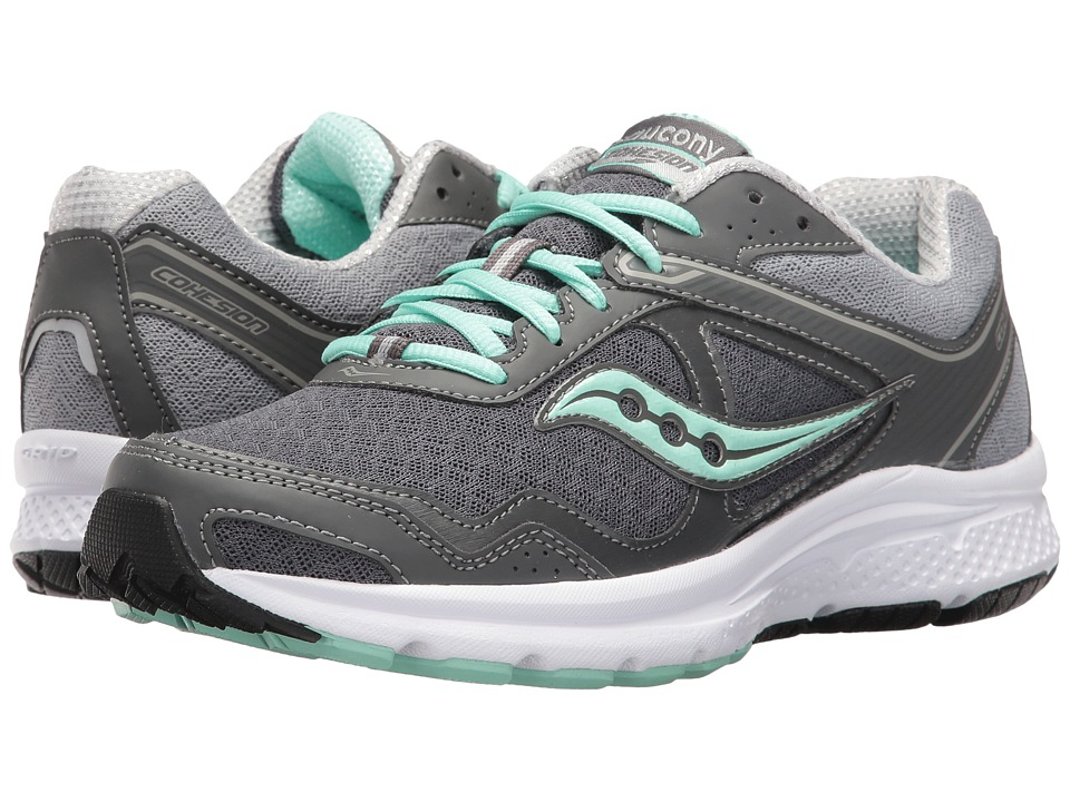 Saucony - Cohesion 10 (Grey/Grey/Mint) Women's Shoes