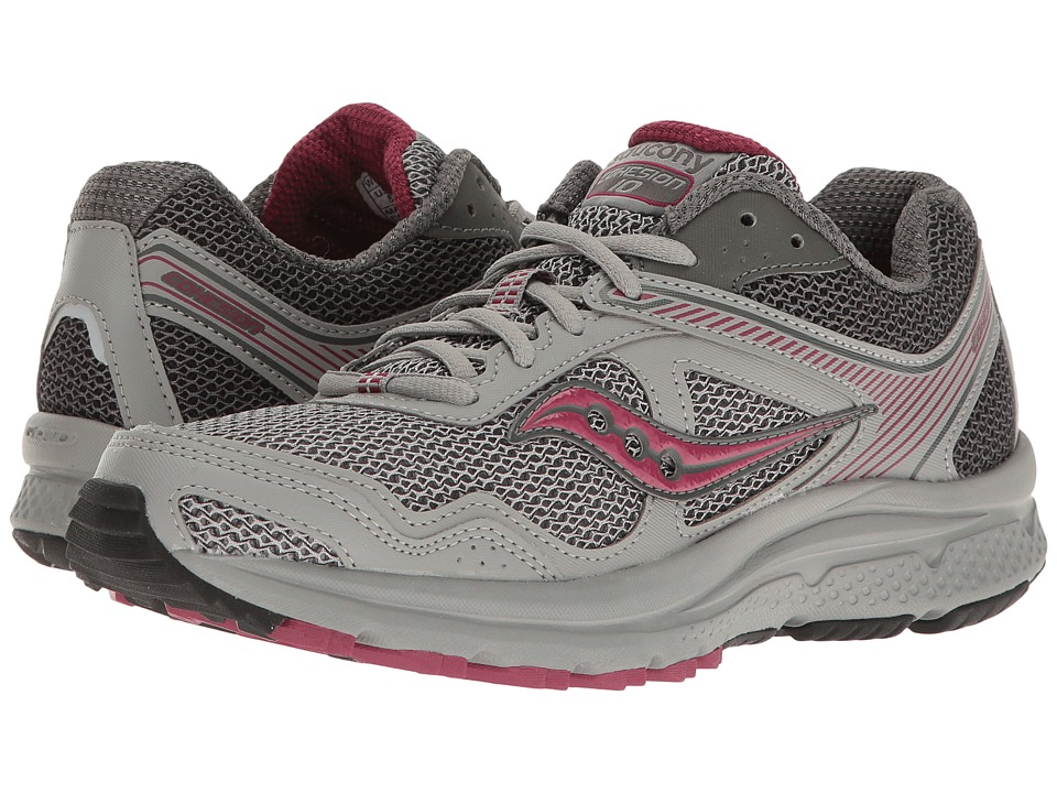 Saucony - Cohesion TR10 (Grey/Plum) Women's Shoes