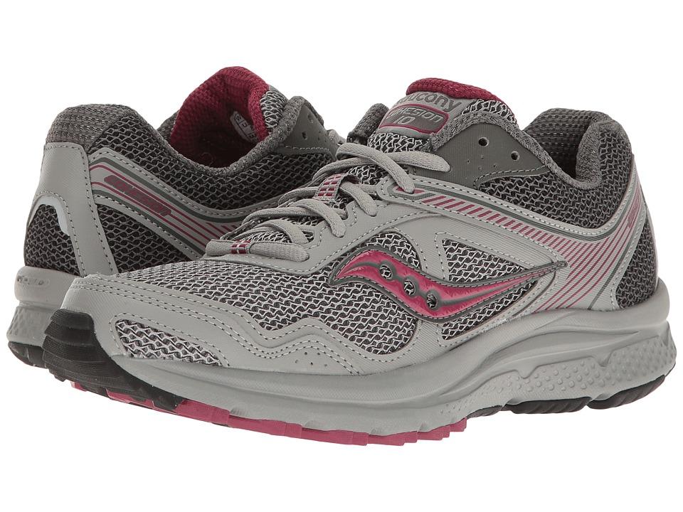 Saucony - Cohesion TR10 (Grey/Plum) Women's Shoes