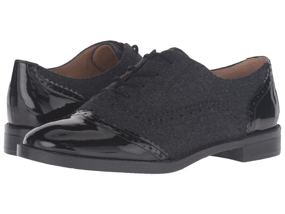 Franco Sarto - Imagine (Black Patent/Grey Flannel) Women's Shoes