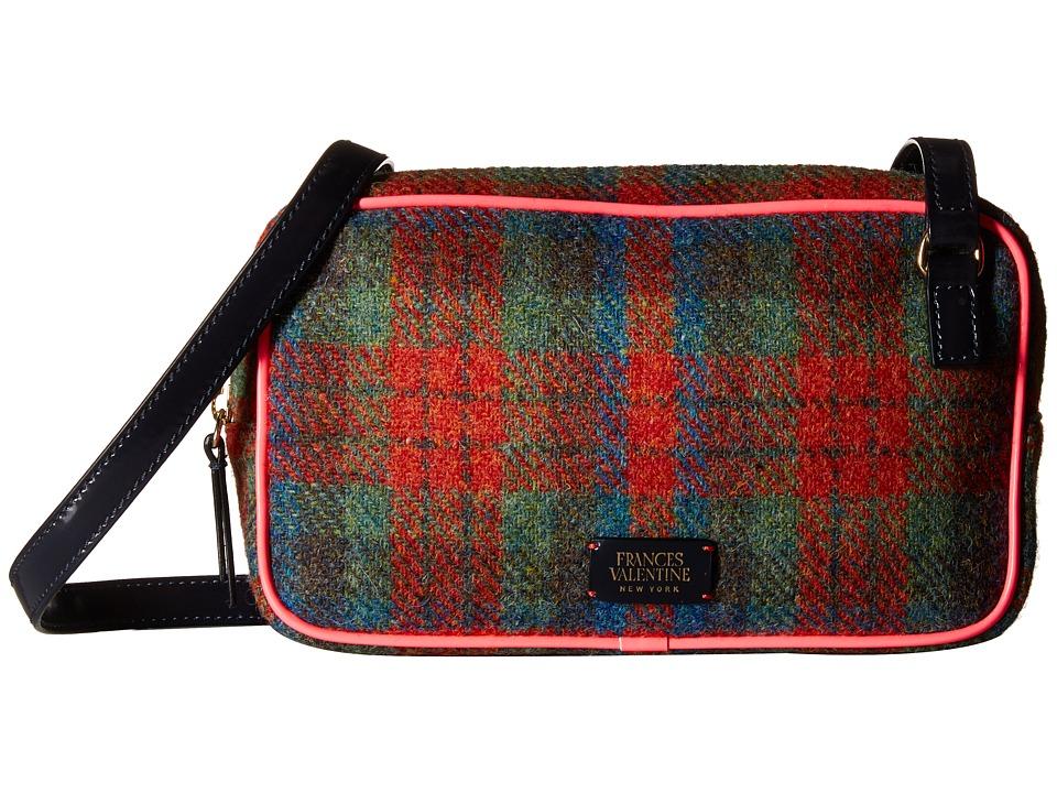 Frances Valentine - Lucy Wool Crossbody (Orange Multi/Pink) Cross Body Handbags