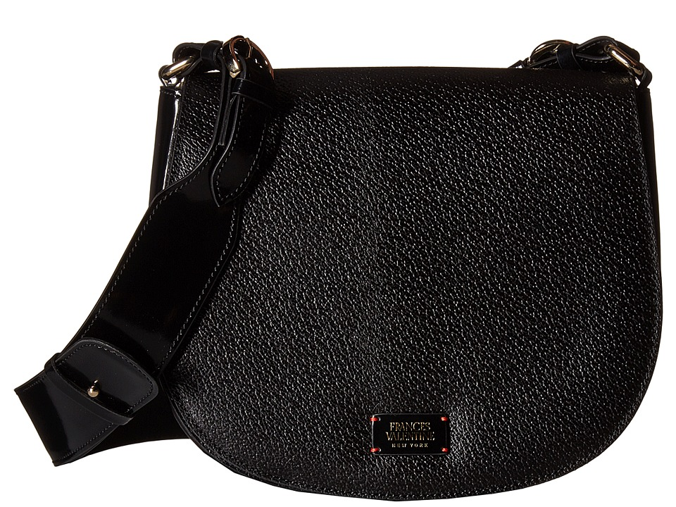 Frances Valentine - Small Ellen Shoulder Satchel (Black) Satchel Handbags