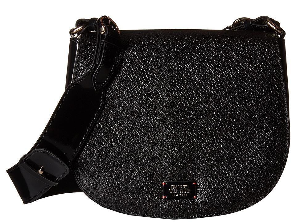 Frances Valentine - Small Ellen Shoulder Satchel (Black) Satchel Handbags