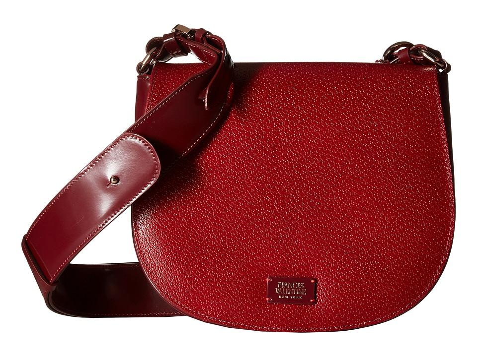 Frances Valentine - Small Ellen Shoulder Satchel (Red) Satchel Handbags