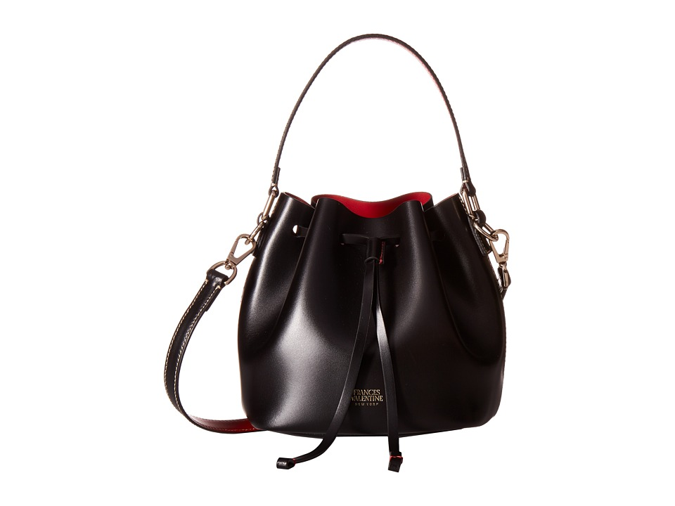 Frances Valentine - Mini Ann Leather Bucket Bag (Black) Handbags