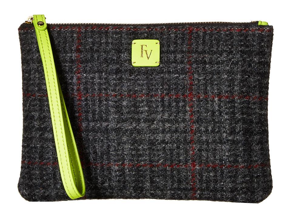 Frances Valentine - Large Zip Wristlet (Multi Grey/Green) Wristlet Handbags