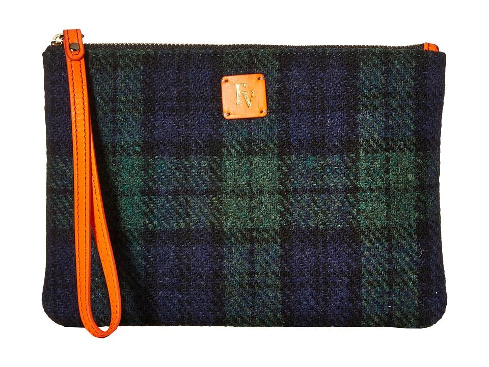 Frances Valentine - Large Zip Wristlet (Multi Orange/Blue) Wristlet Handbags