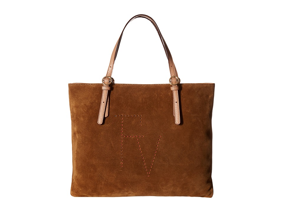 Frances Valentine - Perforated Suede Tote (Camel) Tote Handbags