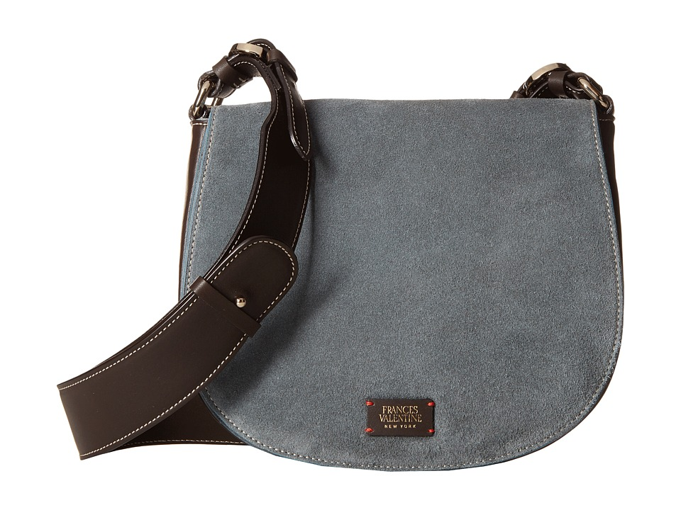 Frances Valentine - Small Ellen Suede Shoulder Satchel (Teal) Satchel Handbags