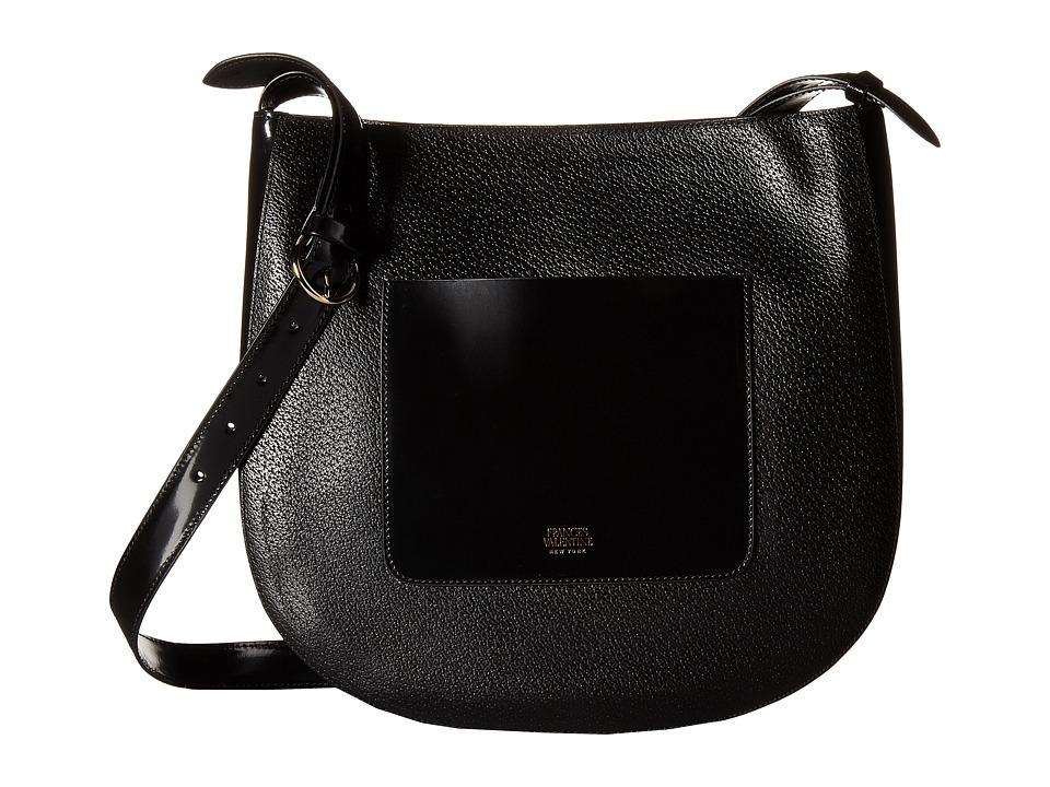 Frances Valentine - Large Ellen Shoulder Satchel (Black) Satchel Handbags
