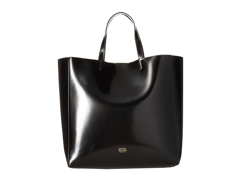 Frances Valentine - Large Margaret Leather Tote (Black) Tote Handbags