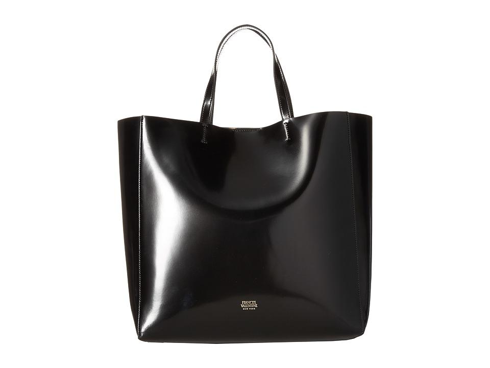 Frances Valentine - Large Margaret Leather Tote (Black) Tote Handbags