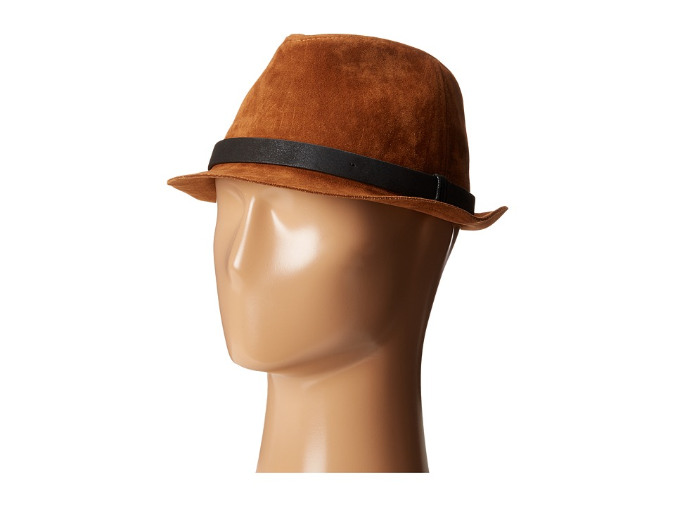 San Diego Hat Company - CTH8052 Faux Suede Fedora Hat (Tobacco) Fedora Hats