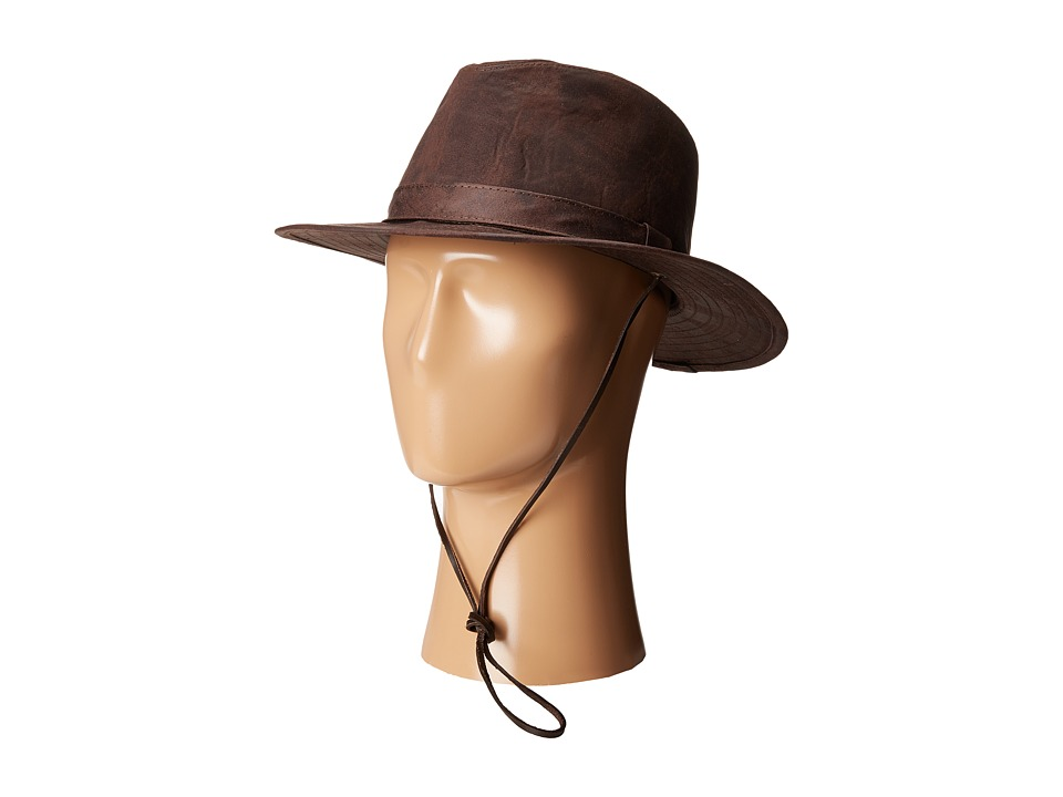 San Diego Hat Company - CTH8053 Distressed Fedora Hat (Brown) Fedora Hats