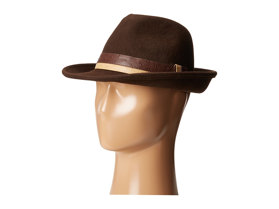 San Diego Hat Company - WFH8032 Fedora Hat (Brown) Fedora Hats