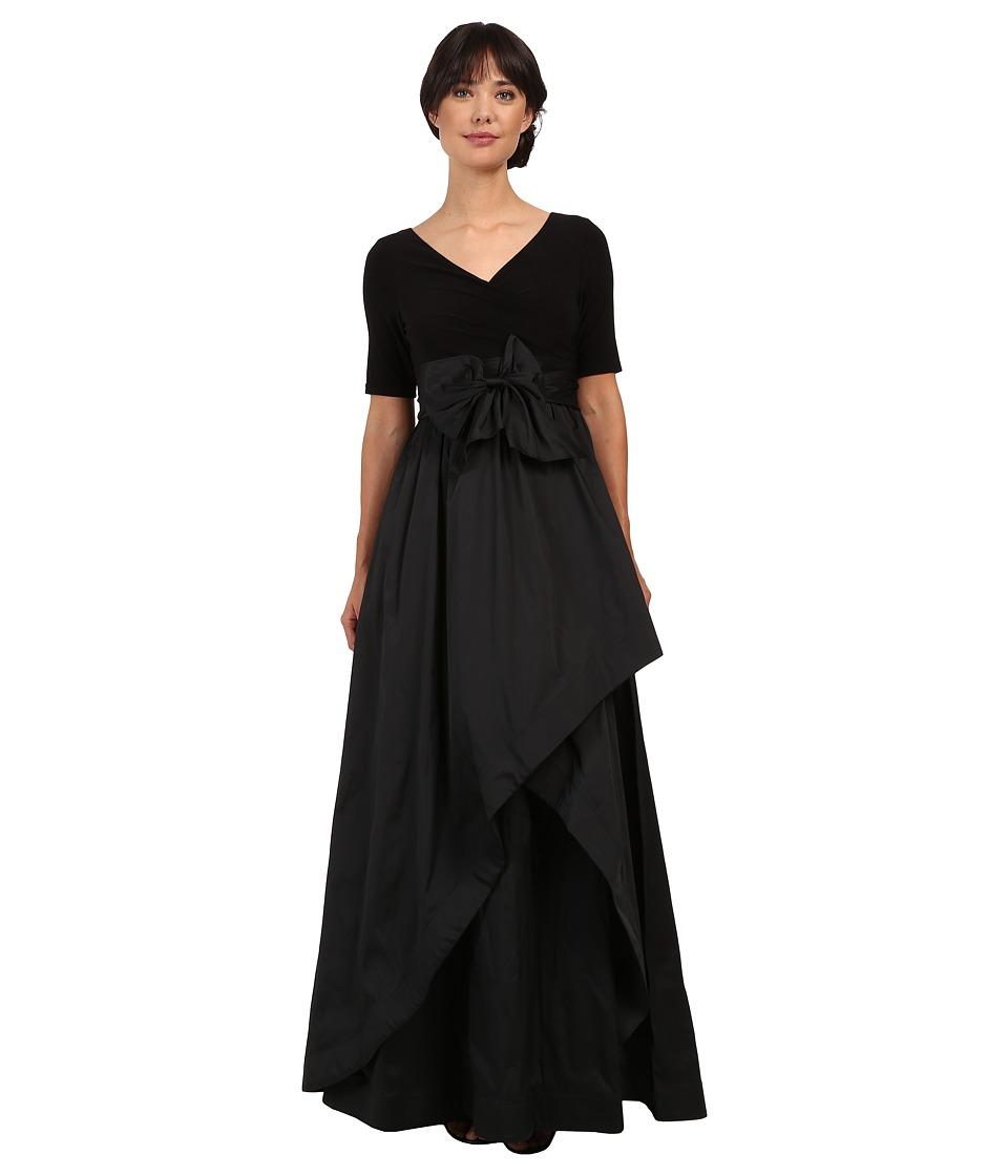 Adrianna Papell - Taffeta Ball Gown (Black) Women's Dress