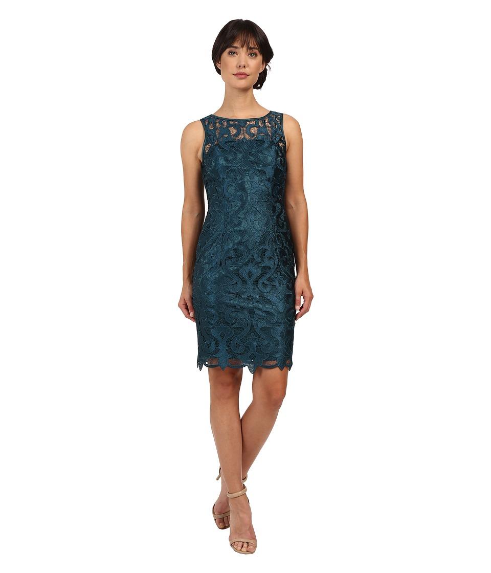 Adrianna Papell - Sleeveless Guipure Cocktail Dress (Hunter) Women's Dress