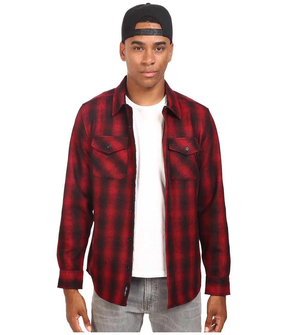 Primitive Detroit Shadow Shirt-Jacket (Cardinal) Men