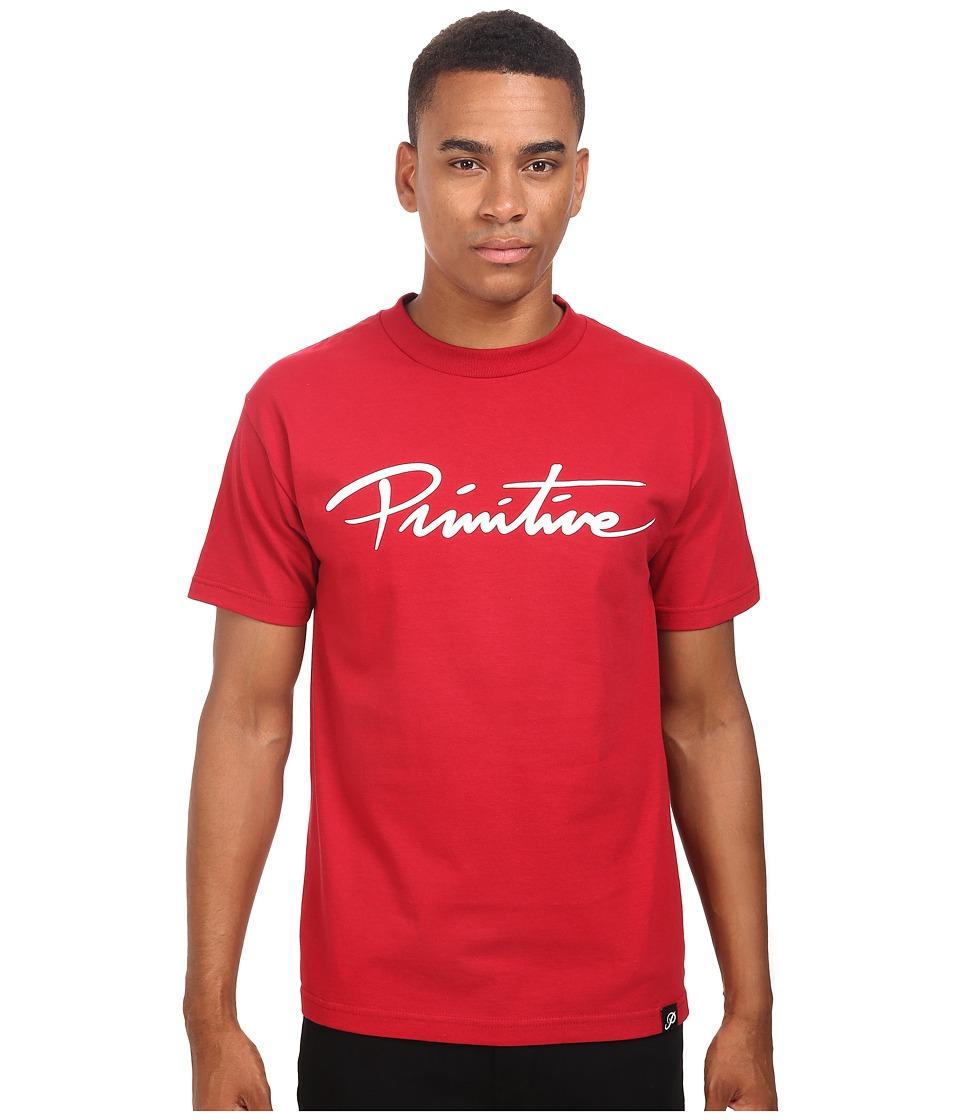 Primitive - Nuevo Script Tee (Cardinal) Men's T Shirt