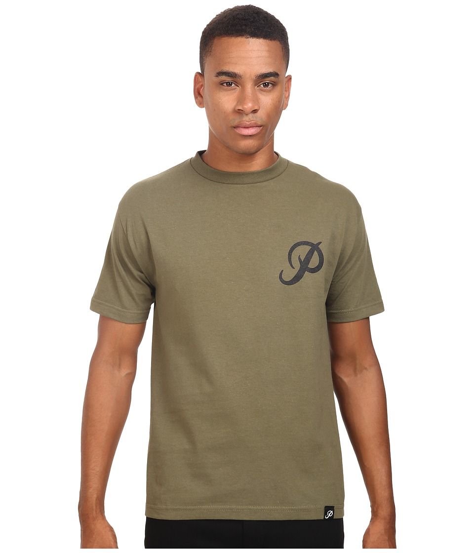 Primitive - Classic P Tee (Military Green) Men's T Shirt