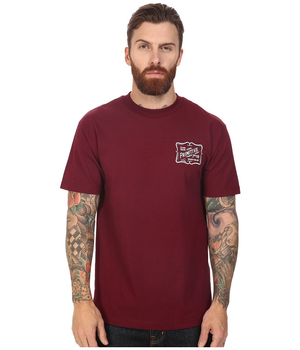 Primitive - Handmade Tee (Burgundy) Men's T Shirt