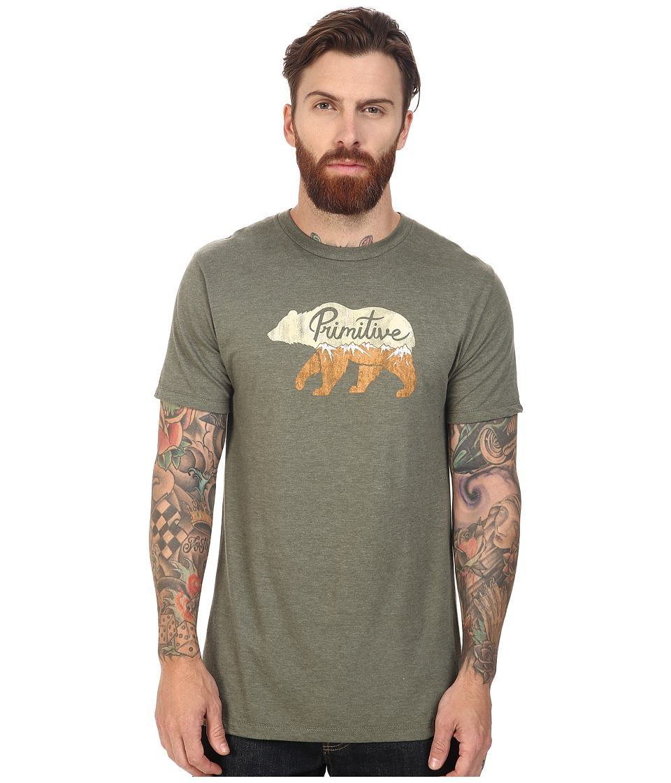 Primitive - Ursus Lightweight Tee (Olive Heather) Men's T Shirt