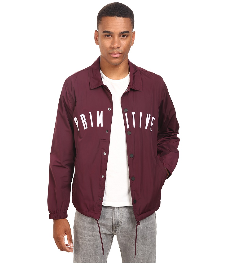 Primitive - Condensed Coach Jacket (Burgundy) Men's Coat