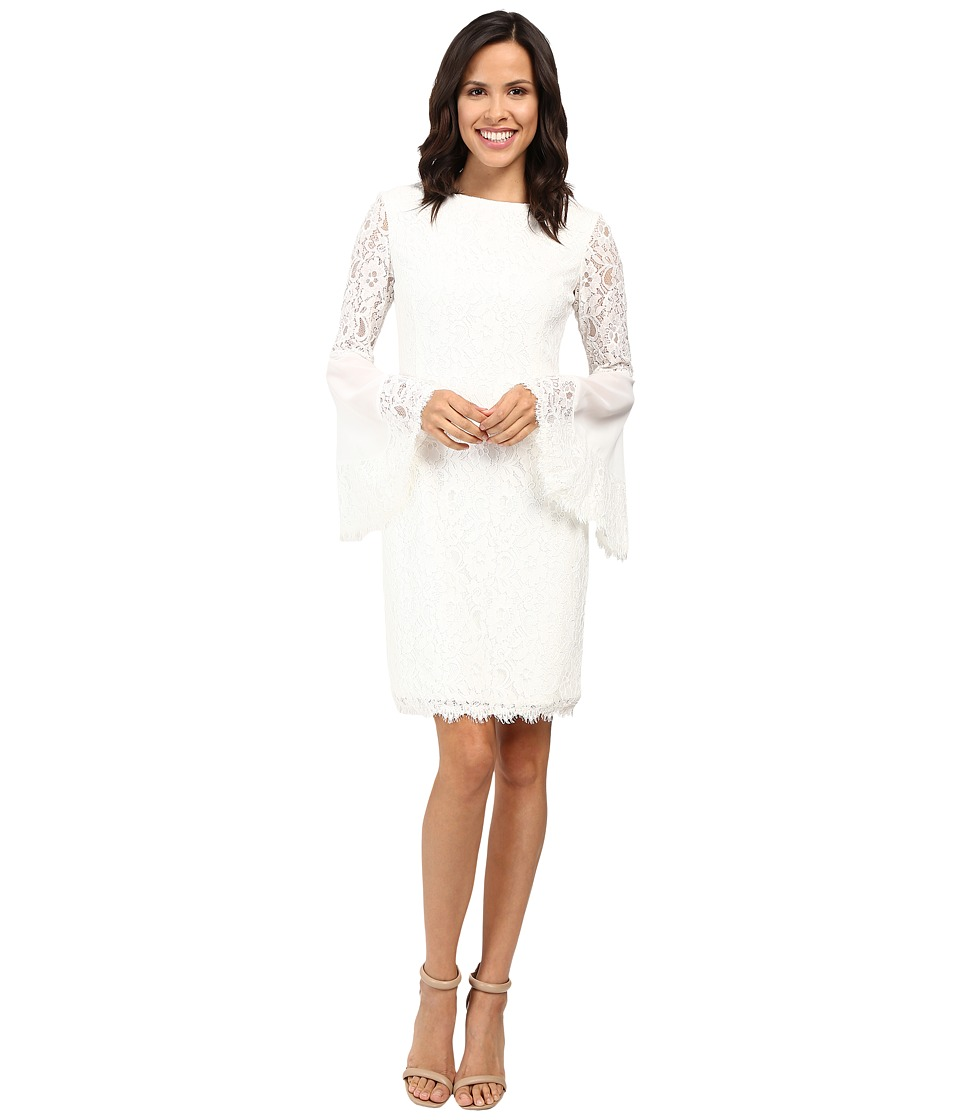 NUE by Shani - Sheath Dress with Bell Sleeves (Ivory) Women's Dress