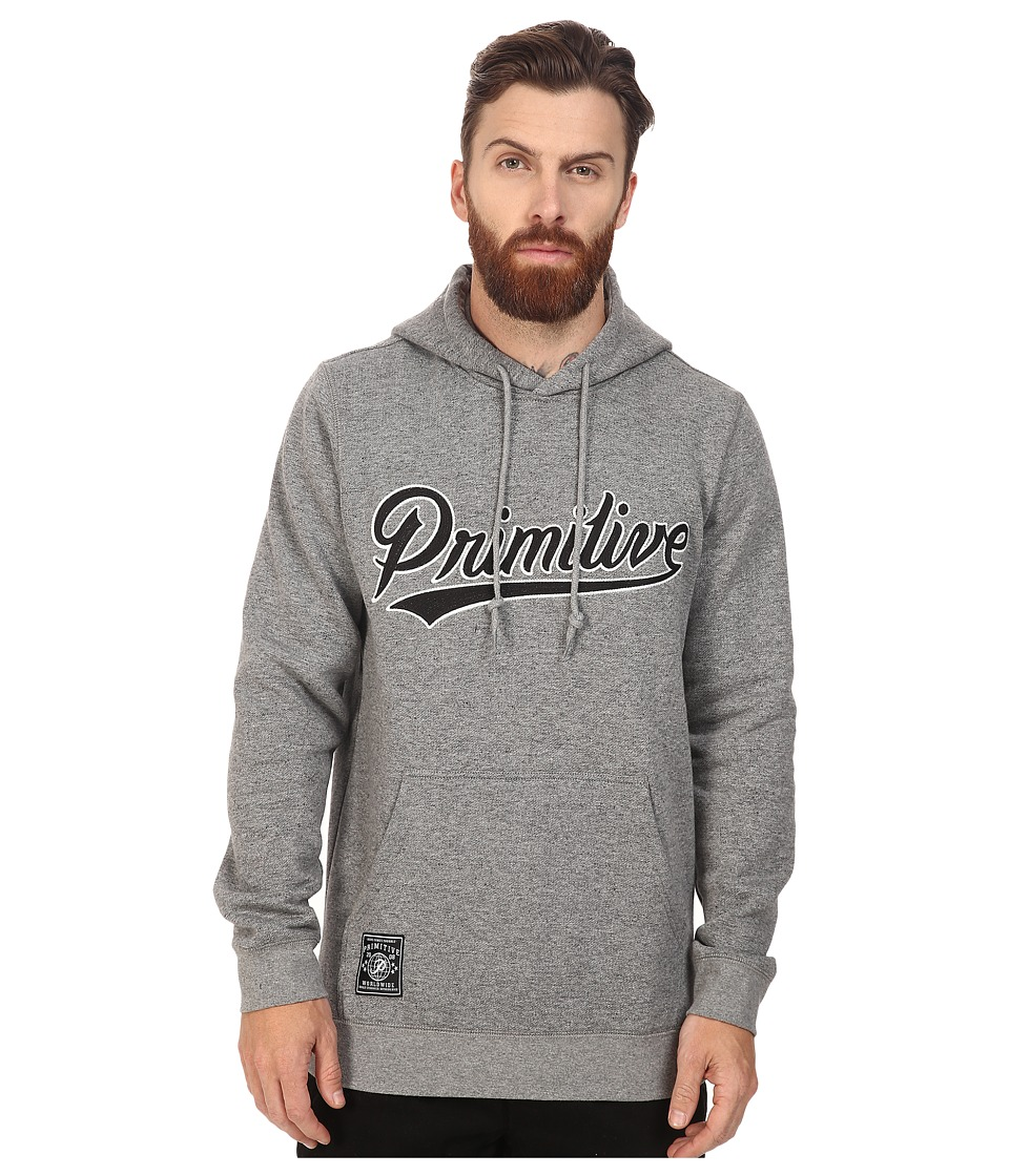 Primitive - Built Stronger Pullover (Grey Heather) Men's Clothing