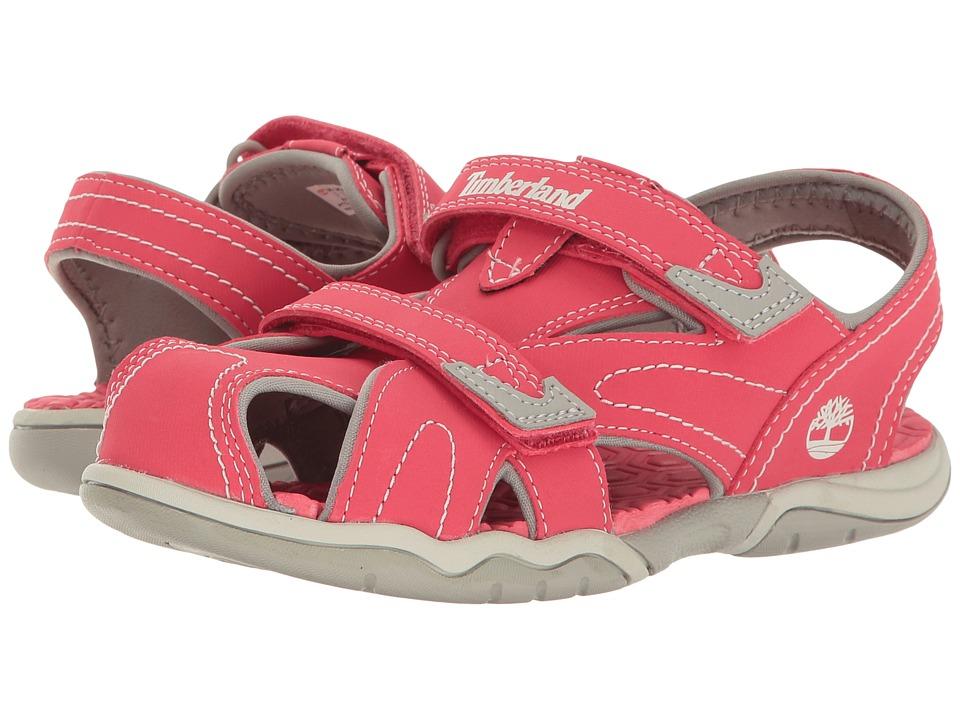 Timberland Kids - Adventure Seeker Closed Toe Sandal (Little Kid) (Geranium) Girl's Shoes