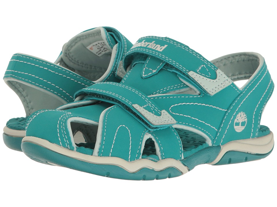Timberland Kids - Adventure Seeker Closed Toe Sandal (Little Kid) (Teal Blue) Kids Shoes