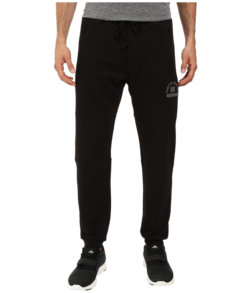 Primitive - 3-Panel Sweatpants (Black) Men's Casual Pants
