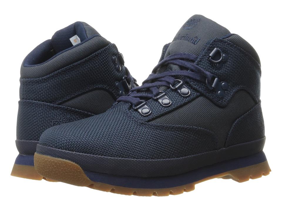 Timberland Kids - Euro Hiker Fabric (Toddler/Little Kid) (Black Iris) Kid's Shoes