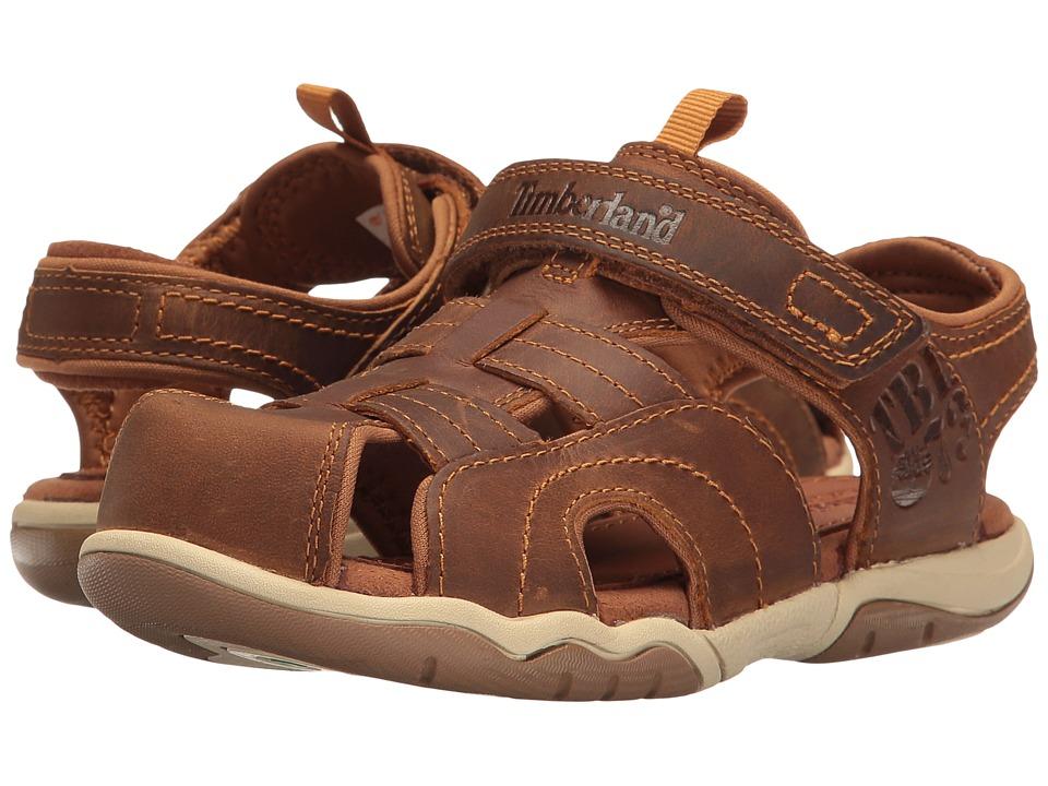 Timberland Kids - Oak Bluffs Leather Fisherman (Little Kid) (Rust Nubuck) Boy's Shoes
