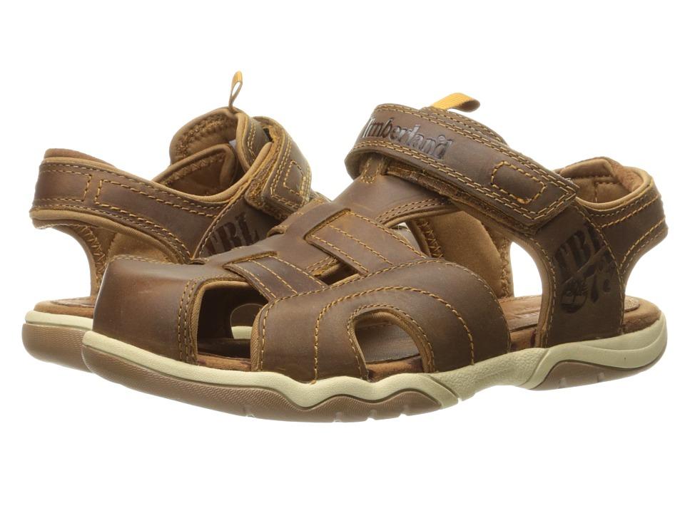 Timberland Kids - Oak Bluffs Leather Fisherman (Big Kid) (Rust Nubuck) Boy's Shoes